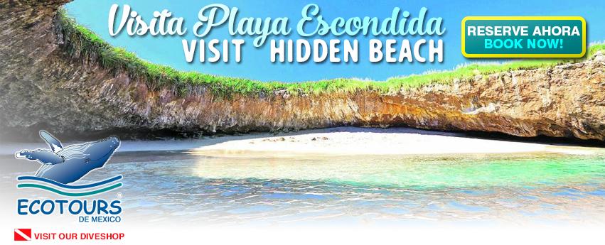Playa Escondida en Islas Marietas
